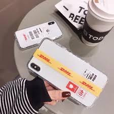 Iphone 6s Plus Phone Case Designer Us 1 43 37 Off Trend Designer Stripe Label Phone Case For Apple Iphone 6 6s Plus 7 7plus 8 8plus X Xs Xr Max Transparent Anti Fall Cover Capa In