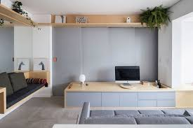 Efficient tiny apartment lives large with clever built-ins