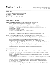Criminal Justice Resume 11 Job Responsibilities Of A Veterinarian