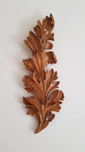 hand carved panel acanthus wood carving