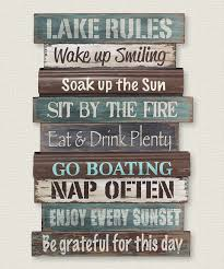 peaceful inspiration ideas lake house wall art minimalist loving this rules sign on zulily zulilyfinds es home and pillows for