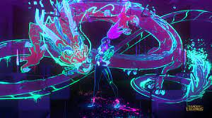 Neon K/DA Akali MV HD Wallpaper ...