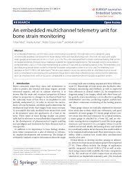 Embedded Designs Mark Johnson Pdf An Embedded Multichannel Telemetry Unit For Bone Strain