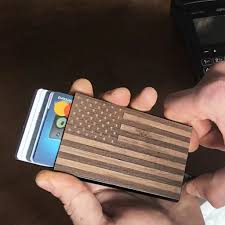We offer a variety of styles, from stainless steel and metal business card holders available in silver, gold or brass to leather business card holders available in. American Flag Wood And Metal Credit Card Holder Wallet Woodgraw