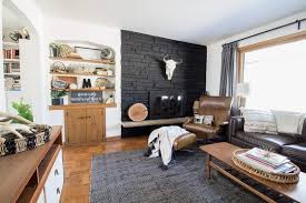 stone tile fireplace surround local painting tile around fireplace before and after awesome black