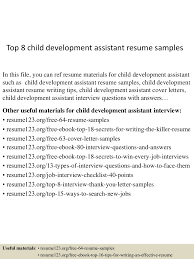 Child Development Resume Top224childdevelopmentassistantresumesamples224lva224app622492thumbnail24jpgcb=2242436224096242 10