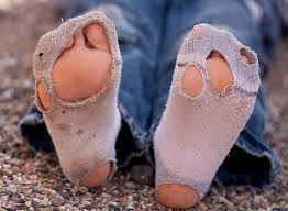 Image result for pictures of hole dirty old socks