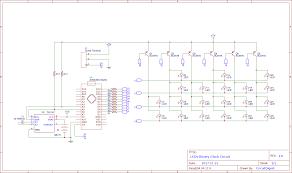 Binary clock circuit diagram