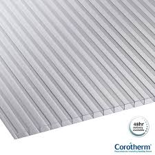 corotherm 10mm clear twinwall polycarbonate sheets 4000mm x 1050mm