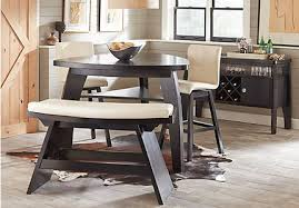 height of a dining room table. noah vanilla 4 pc bar height dining room with barstools of a table l