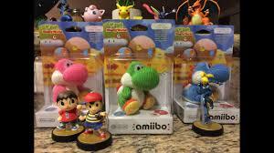 World Of Light Yarn Yoshi Green Pink And Light Blue Yarn Yoshi Amiibo Unboxing Yoshis Woolly World