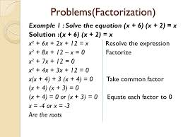 19 problems factorization
