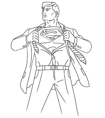 He has power buttons on his wrists that he keeps activating. Top 30 Free Printable Superman Coloring Pages Online