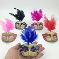 Large Masquerade Masks For Decoration On Sale Supper Mini Mask Venetian Masquerade Feather Mask Party 39