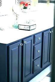 Refinishing Bathroom Vanity Simple Paint A Bathroom Cabinet An Unexpected Color Perfect For Older With