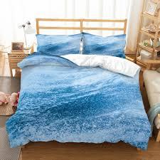 3d printing bedding set duvet cover pillowcases 2019 qh52 comforter covers full size bed sets sea waves scenery california king duvet covers full