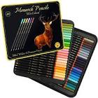 Medihealth 1 Black Widow Monarch Colored Pencils for Adults - 48 Coloring Pencils with Smooth Pigments