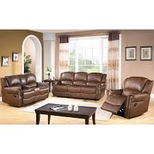abbyson living harvest reclining sofa loveseat and chair set
