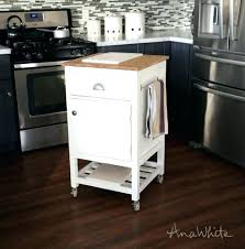 small kitchen cart carts on wheels portable rolling with trash bin drop leaf