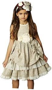Mustard Pie Clothing Size Chart Amazon Com Mustard Pie Classy Bisque Emmaline Holiday Dress