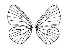 Template Printable Fairy Wings Template To Colour Para Design