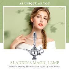 BAMOER <b>Authentic 100</b>% <b>925 Sterling</b> Silver Aladdin's Magic Lamp ...
