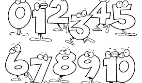 Free Number Coloring Pages 4 #36415