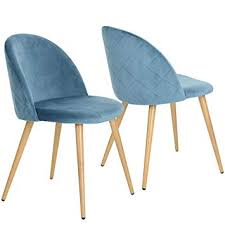 coavas dining chairs soft seat and back kitchen chairs with wooden style sy metal legs velvet