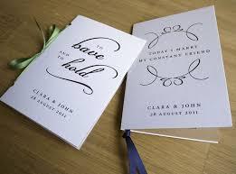 Modern Quotes Wedding Program Pocket Sized Booklet One