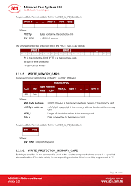 Writememorycard Writeprotectionmemorycard Acr3801 Reference