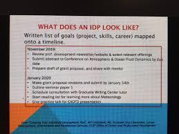 Professional Goals List What Does An Idp Look Like Its A Written List Of Goals