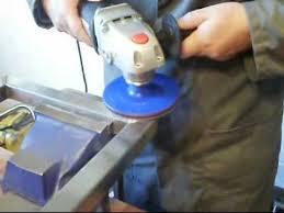 remove and polish a weld with the satin polishing kit