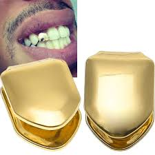 Gold Grill Designs Amazon Com Anfun 4 Pieces 14k Plated Gold Grillz Hip Hop