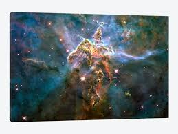 >wall art mystic mountain in carina nebula hubble space telescope by  mystic mountain in carina nebula hubble space telescope by nasa canvas print 60 l x