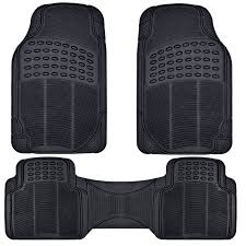 BDK Front and Back ProLiner Heavy Duty Car Rubber Floor Mats for