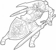 Link Twilight Princess Coloring Pages By Steven Disney Princess