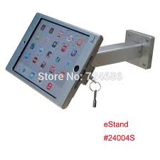 2019 whole wall mount for mini ipad metallic frame stand anti theft enclosure holder display kiosk brace housing metal case with lock from sophib