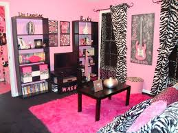 Cool Image Of Pink Zebra Bedroom Design And Decoration : Awesome Pink Zebra  Bedroom Decoration Using