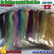 HOT <b>fly fishing crystal</b> flash line 12color fishing line lure line fly ...