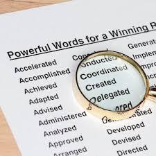 Resume Wording Use Resume Key Words For Resume Writing