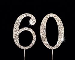 60th Birthday Cake Topper 60th Anniversary Cake Topper 175