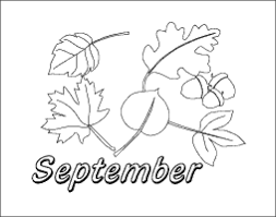 Small Picture September Coloring Page Months of the Year