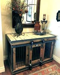 furniture dog crates pet crate bench wooden plans free