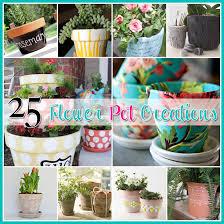 Pot Decoration Designs 100 Flower Pot DIY's The Cottage Market 81
