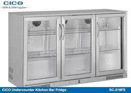 outdoor under counter drinks fridge