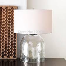 2018 d 35cm x h 54cm glass vase modern table lamp light bedroom round fabric shade reading desk lighting from alluring 141 25 dhgate com