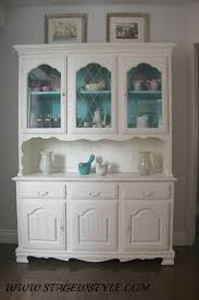 China cabinet and table makeover, using inexpensive home made chalk paint.  Refresh an old