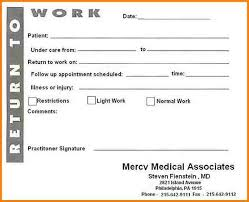 printable doctors note for work 9 printable doctors notes invoice example