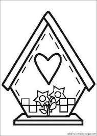 Small Picture Best Photos of Bird House Coloring Pages Birdhouse Coloring