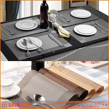 best placemat fashion pvc dining table mat pads bowl pad coasters waterproof table cloth pad slip resistant pad under 1 55 dhgate com
